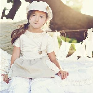 Persnickety | Linen Jumper + White Top | 2T